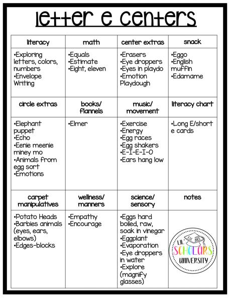 preschool-letter-e-learning-centers